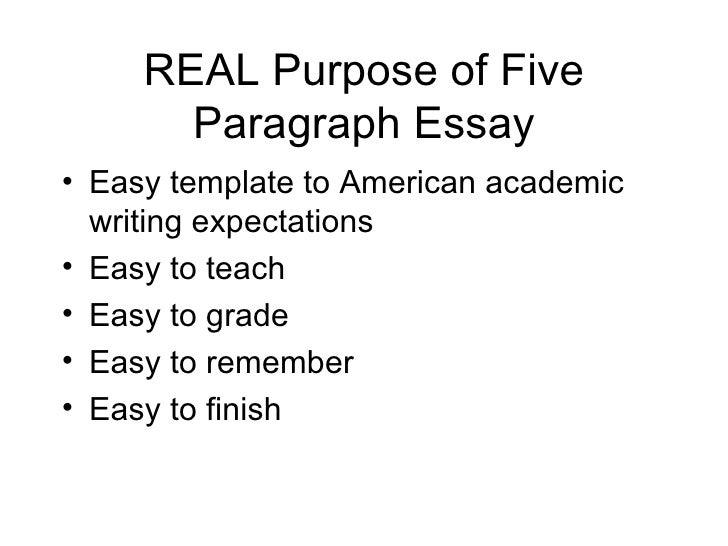 teach 5 paragraph essay
