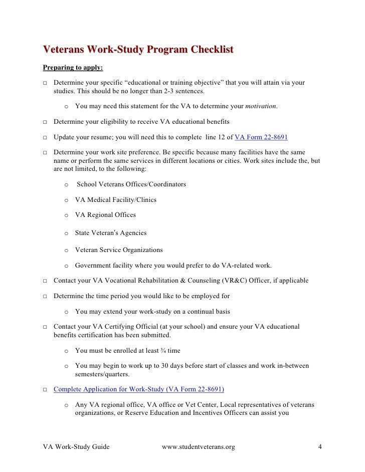 va work study guide