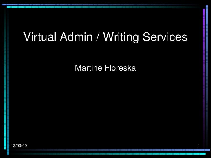Virtual Admin / Writing Services Martine Floreska