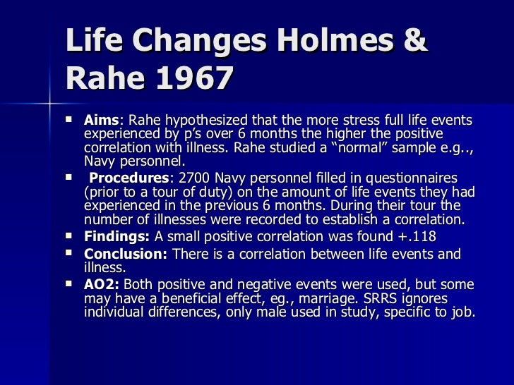 Holmes- Rahe Stress Inventory - The American Institute of ...