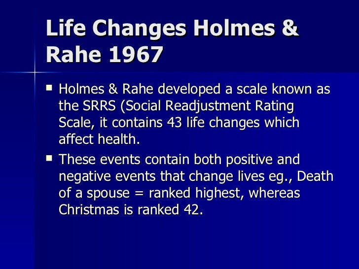 Holmes-Rahe life events rating scale - researchgate.net