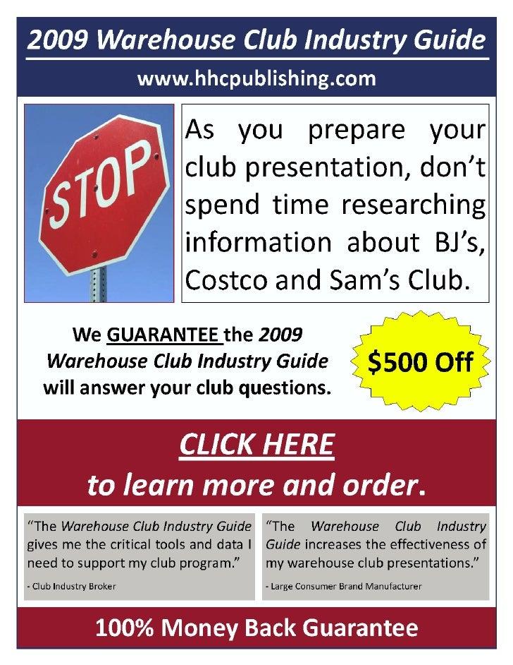 December 30, 2008 WAREHOUSE CLUB FOCUS                                                                            Volume 1...