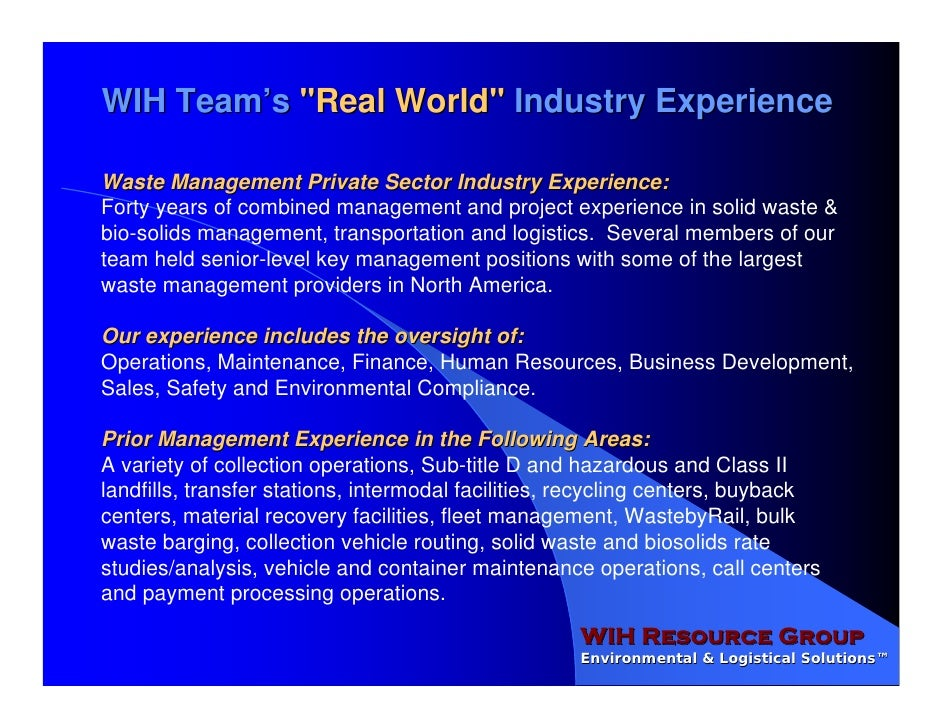 WIH Resource Group OPA Overview Slide 3