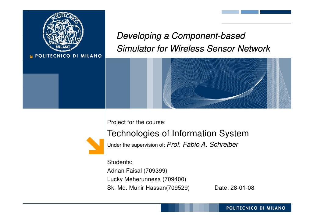 Developing a Component-based                  Component-    Simulator for Wireless Sensor Network     Project for the cour...