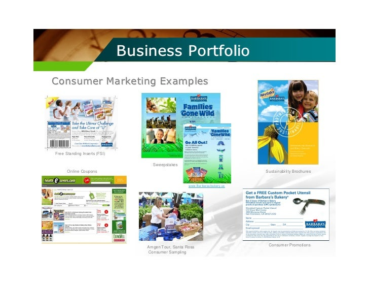 how to make a business portfolio examples