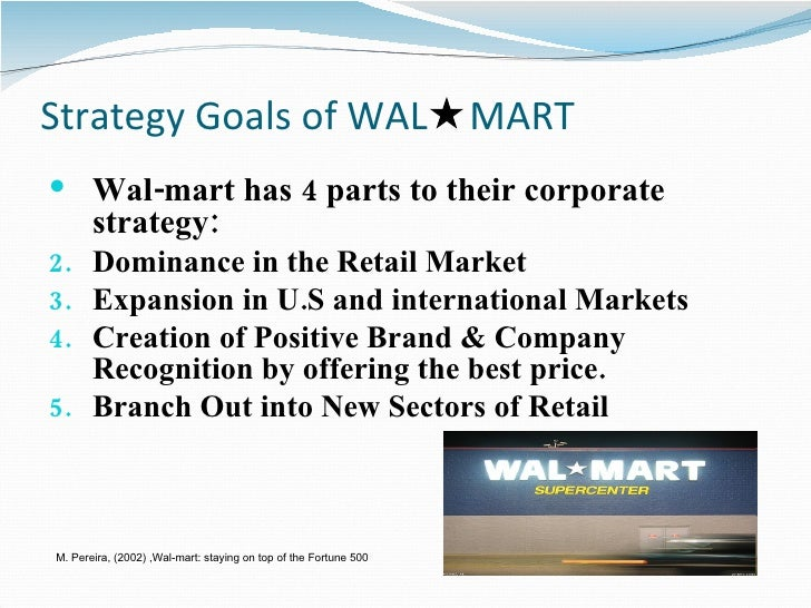 Analyze Walmart's strategic goals, mission and vision