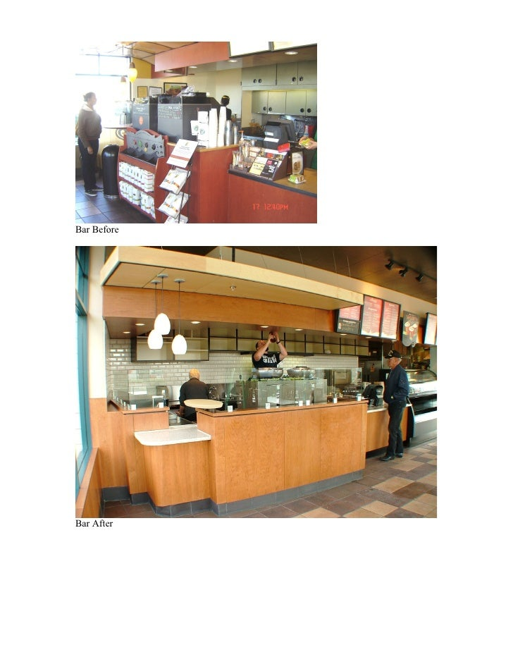 Starbucks Coffee Company Webster Atlantic Alameda CA Before Aft