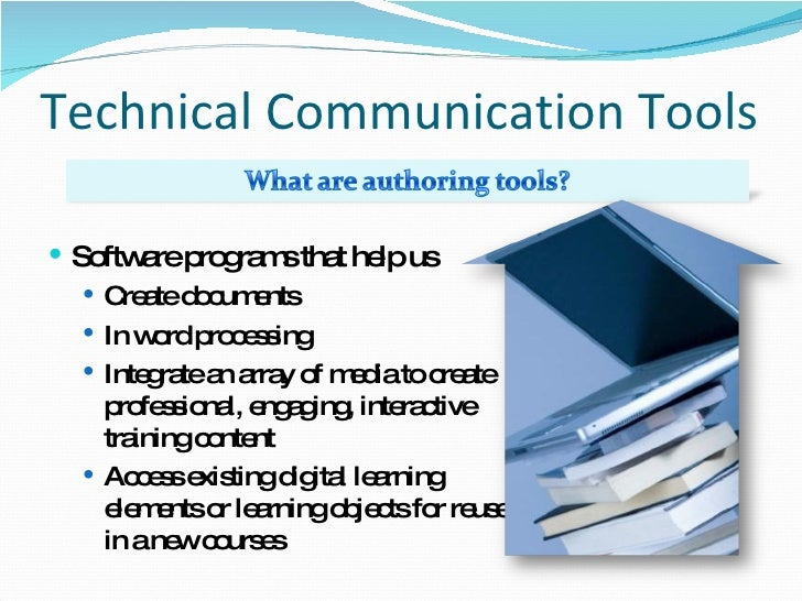 Technical writing software tools