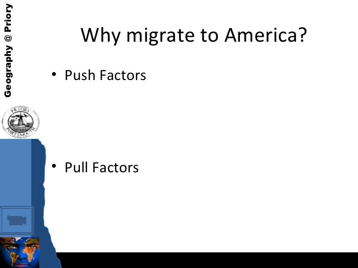 push and pull factors puerto rico migration Push-pull factors from 1910 through the 1940's, when us involvement in the dominican republic was strongest, a small number of dominican immigrants entered much like many other caribbean migrants, dominicans typically came to the united states as secondary migrants after first working in puerto rico, cuba,.