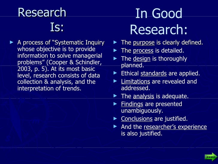 """Research  Is: <ul><li>A process of """"Systematic Inquiry  whose objective is to provide information to solve managerial prob..."""
