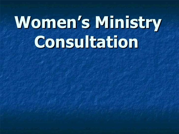 Women's Ministry Consultation