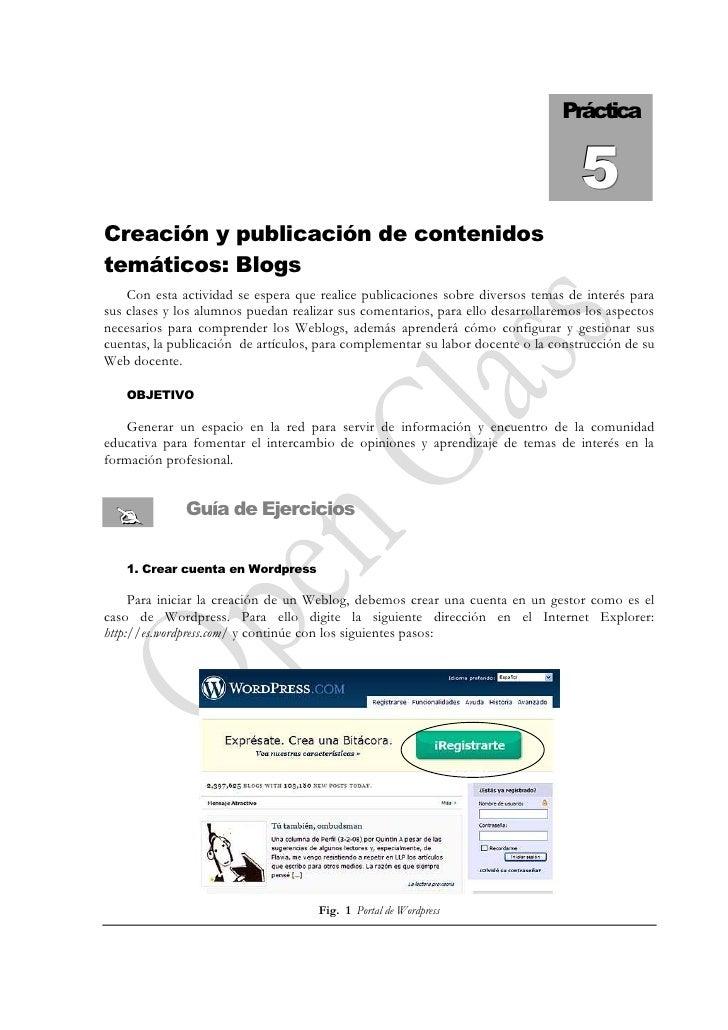 Práctica                                                                                      5 Creación y publicación de ...