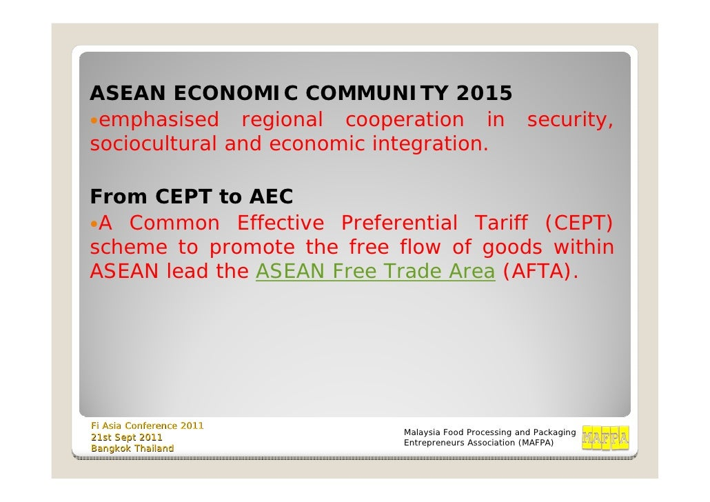 "asean economic community 2015 The aec is not an ""if"" – it's a ""when"" to be amongst the winners, prepare your organisation now the asean economic community (aec) can be a game changer – in both good and bad ways."