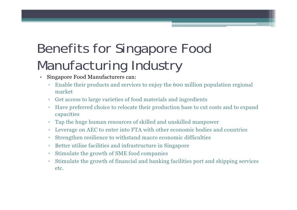 Guidance To Incentives For Food Industry In Singapore