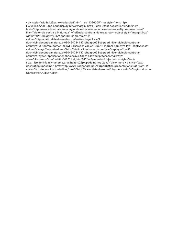 <div style=quot;width:425px;text-align:leftquot; id=quot;__ss_1336205quot;><a style=quot;font:14px Helvetica,Arial,Sans-se...