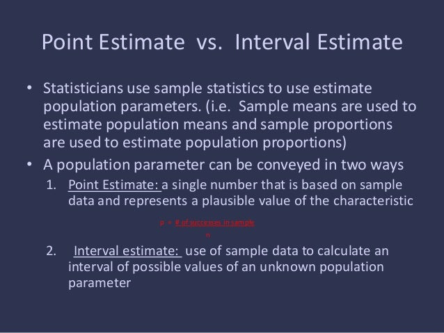 Point Estimate -