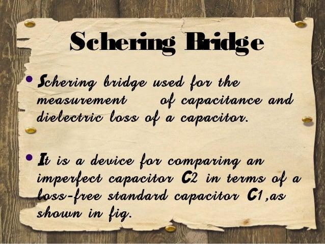 SCHERING BRIDGE THEORY DOWNLOAD