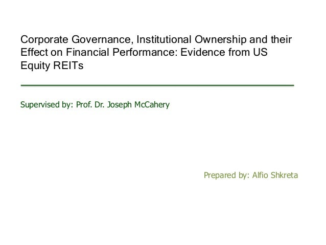 corporate governance and financial performance The purpose of this study was to establish whether corporate governance  practices do influence financial performance of commercial banks in kenya the  study.