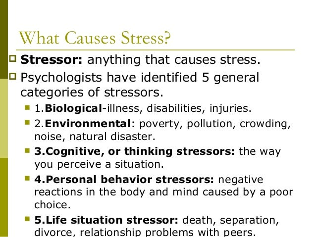 understanding the causes and management of stress