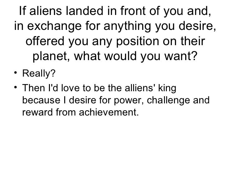 If Aliens Landed In Front Of You ...