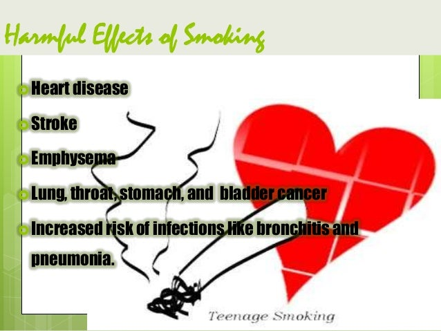 The Effect of Smoking