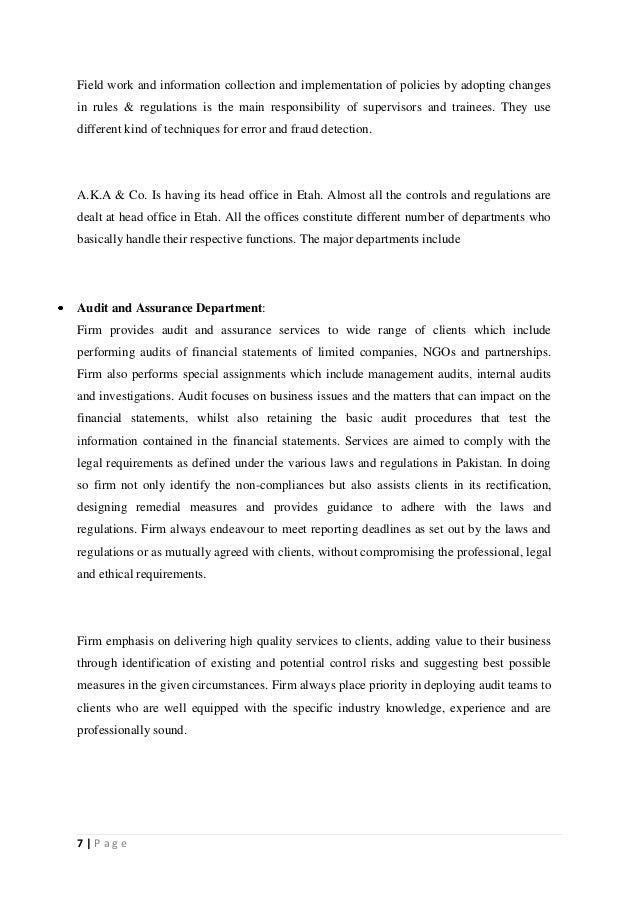 accounting internship experience essay