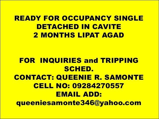 Photo Album by samontesalesgroup READY FOR OCCUPANCY SINGLE DETACHED IN CAVITE 2 MONTHS LIPAT AGAD FOR INQUIRIES and TRIPP...