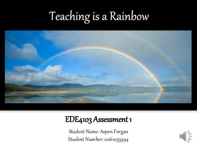 EDE4103 Assessment 1 Student Name: Aspen Forgan Student Number: 0061035994