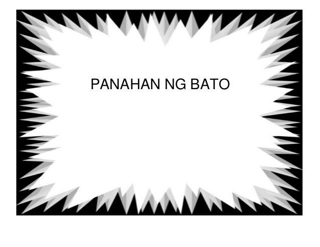 PANAHAN NG BATO