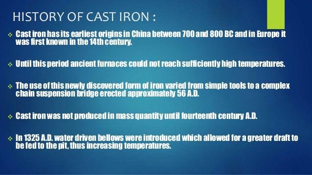 Origin Of Iron ~ Cast iron