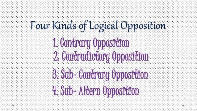 types of logical opposition