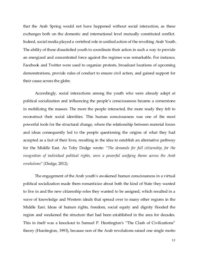 Arab uprising essay