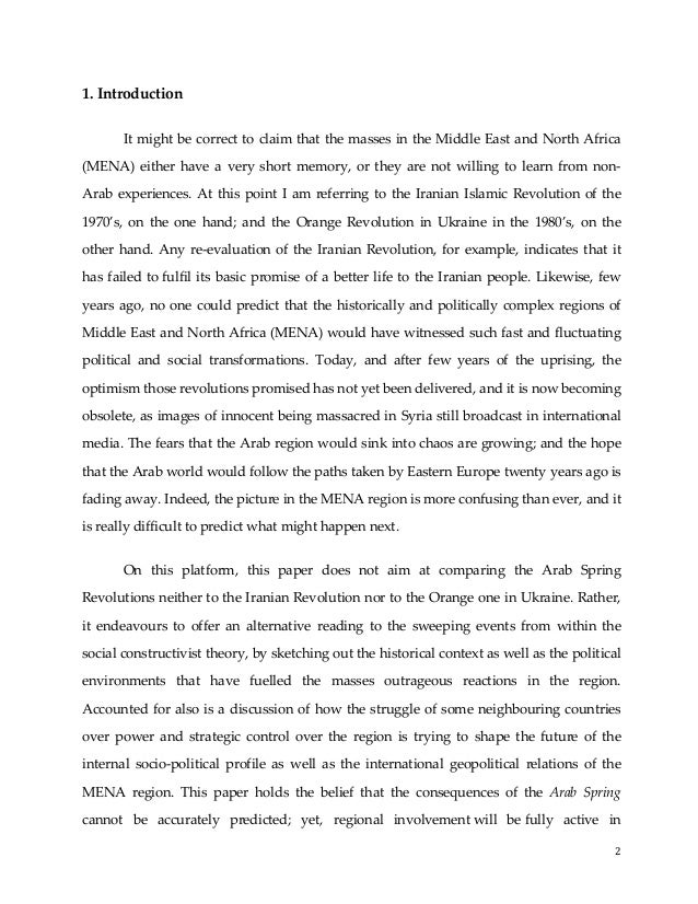 "deconstructing the ""arab spring"" a constrcutivist analysis 2"