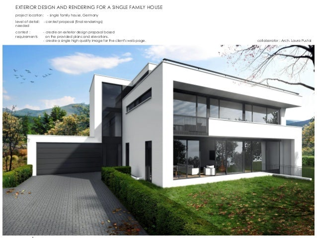 Good EXTERIOR DESIGN AND RENDERING FOR A SINGLE FAMILY HOUSE Contest :   Create  An Exterior Design ...