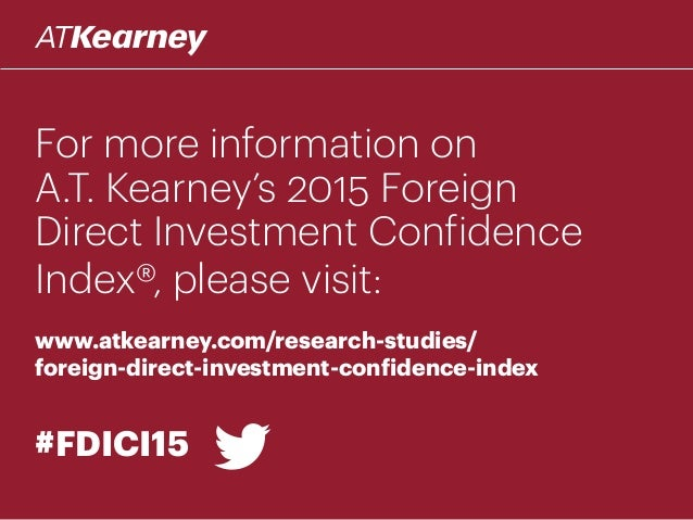 Foreign direct investment confidence index essay