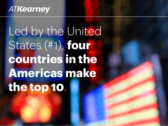 Led by the United States (#1), four countries in the Americas make the top 10.
