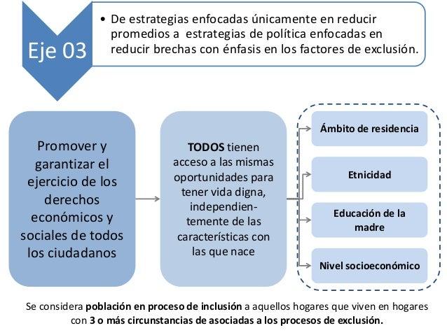 Promover y garantizar el ejercicio de los derechos económicos y sociales de todos los ciudadanos TODOS tienen acceso a las...