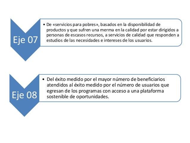 Eje 07 • De «servicios para pobres», basados en la disponibilidad de productos y que sufren una merma en la calidad por es...