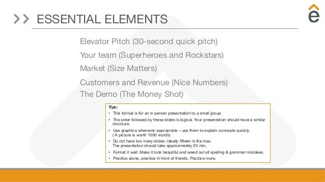 A guide to in-depth investor pitches by Elevate Ventures Slide 3