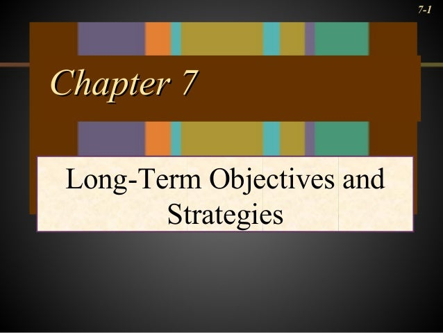 7-1 Chapter 7Chapter 7 Long-Term Objectives and Strategies