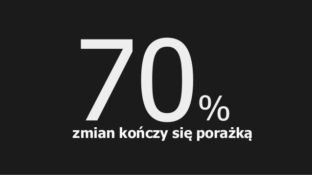 % zmian kończy się porażką