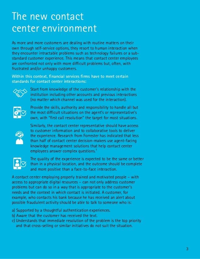 Transforming the Financial Services Contact Center: A Human Perspective in the Digital Era Slide 3