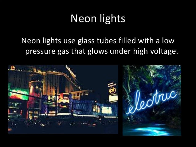 High Voltage Indicators Neon : Neon lights