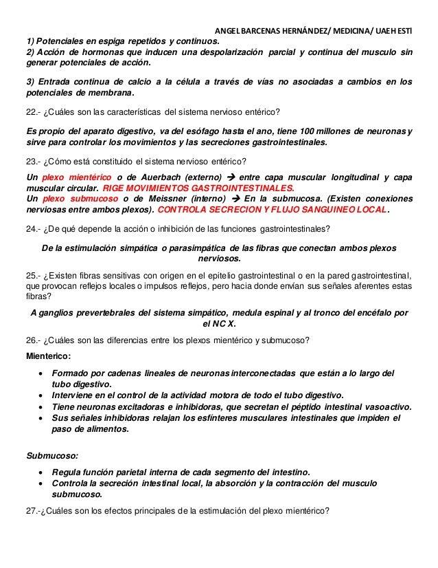 GUIA PARA EXAMEN. CAP. 62 DE FISIOLOGIA MEDICA GUYTON & HALL