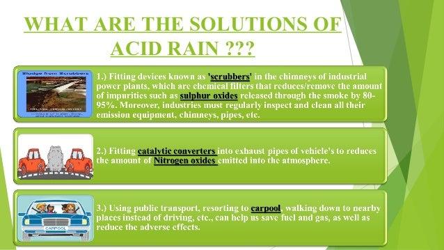 ACID RAIN (CAUSES, EFFECTS, & SOLUTION) BY- KUMAR SHUBHAM (B.PHARM-…