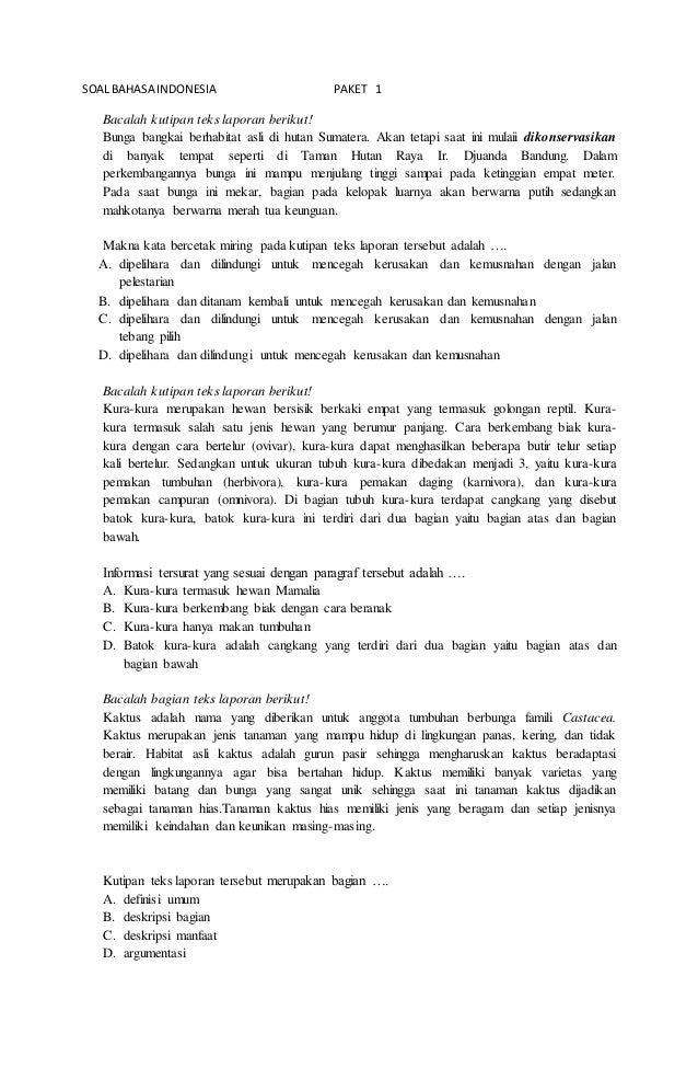 Latihan Soal B Indonesia