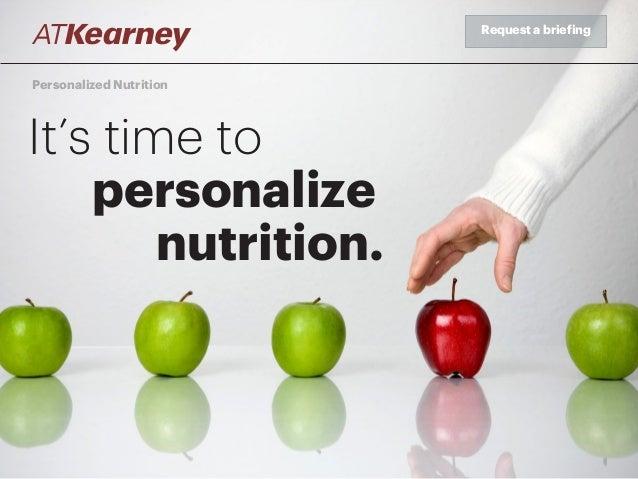 a t kearney personalized nutrition