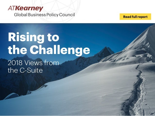 Rising to the Challenge 2018 Views from the C-Suite Read full report