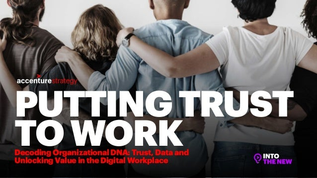 PUTTINGTRUST TOWORKDecoding Organizational DNA: Trust, Data and Unlocking Value in the Digital Workplace