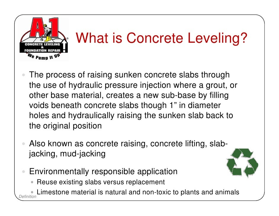 A 1 Concrete Leveling Western New York